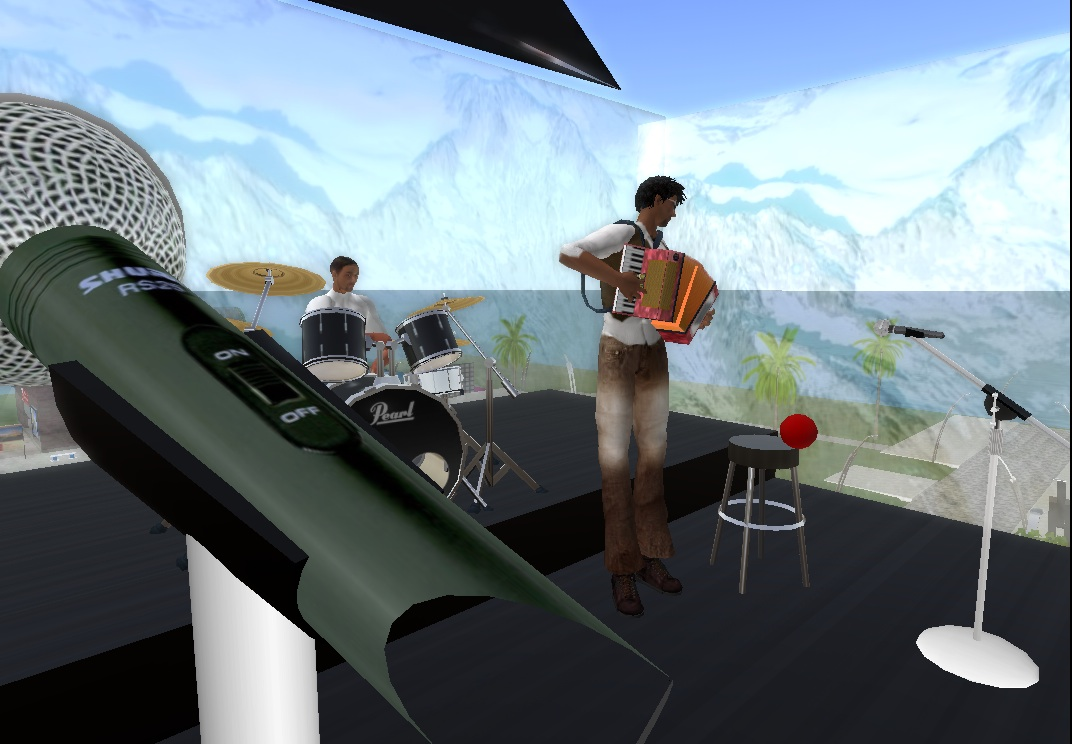 Paolo and Mr.V rehearsing in Second Life